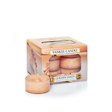 Yankee Candle 12 Scented Tea Light Lights Candles Golden Sands NEW