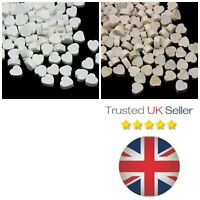 200 x Dainty Wooden Heart Embellishments Rustic Natural Wedding Table Craft UK