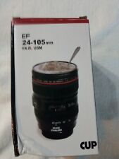 Camera Lens Travel Coffee Cup Stainless Steel Thermos Cup 12 Oz Mug