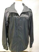 Columbia Men's Zip Up Wind Breaker With Roll Up Hood Jacket Size XL Black Color
