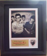 The Smiths Preprinted Autograph/Guitar Pick Display Mounted & Framed