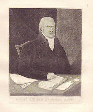 JOHN KAY Original Antique Etching. Robert Kay, Esq., Architect, 1815