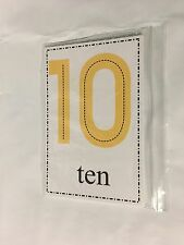 0-10 Counting And Number Word Cards - 22 Large Cards - Math Preschool K 1