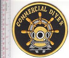 SCUBA Hard Hat Diving Commercial Professional Diver Patch Yellow & Black Patch