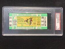 1973 World Series Game 2 Oakland A's Athletics Full Unused Ticket PSA 7 NY Mets