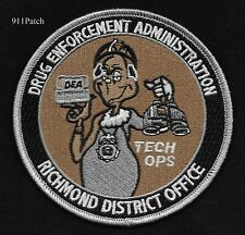 DRUG ENFORCEMENT ADMINISTRATION DEA TECH OPS RICHMOND DIS OFFICE POLICE PATCH