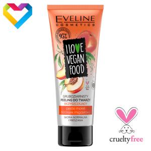 Eveline Cosmetics I LOVE VEGAN FOOD Face Peeling SCRUB Exfoliator Cleansing 75ml