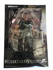 Play Arts Biohazard5 Action Figure  No.1 Chris Redfield Capcom NEW USA Seller