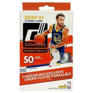 2020-21 Panini Donruss Hanger Box 50 cards Basketball 🏀 Green Flood Parallel 🔥