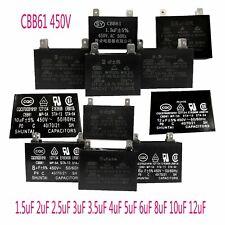 CBB61 450VAC 1.5 ~ 12 uf Rectángulo partes de aire acondicionado condensador de inicio del motor del ventilador