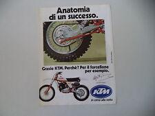 advertising Pubblicità 1979 MOTO KTM 125 MC '80