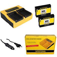 2x Batteria Patona + caricabatteria rapido DUAL LCD per Nikon Coolpix S1100pj