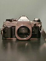 Canon AE-1 Program 35mm Manual Film Camera w/ 80-200mm zoom lens soligor lens