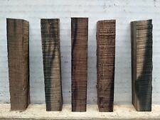 (5) LOT OF 5,  EXOTIC EBONY  PEN BLANKS WOOD TURNING SQUARE   3/4