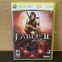 Fable II / 2 (Microsoft Xbox 360, 2008) Complete CIB W/ Manual -Tested