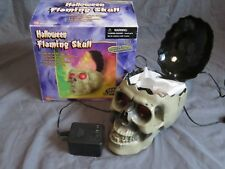 Gemmy Flaming Skull Prop Lighted (Looks Like Real Burning Fire) Halloween Decor