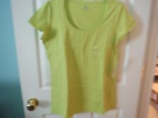 JCP S/S WILD LIME SCOOP NECK  TEE- NEW WITH TAGS - SIZE L
