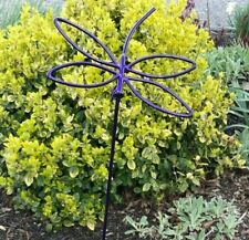 Wrought Iron Purple Garden Dragonfly Outdoor Metal Yard Art Decor Lawn Ornament