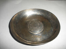ANTIQUE STERLING SILVER TRAY WITH GERMANY 1782 PATRONA BAVARIAE COIN 20 KREUZER