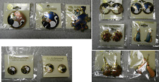 WHOLESALE CLEARANCE-50 HANDPAINTED CLOISONNE CAT PIN BROOCH & EARRINGS LOT-NEW
