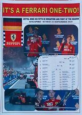Sebastian Vettel 2019 F1 Singapore Grand Prix winner - Ferrari - souvenir print
