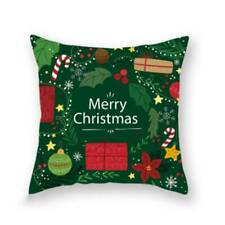 Gift Box Christmas Pillow Case Home Tree Car Pattern Fashion Cushion Cover O3