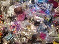 Grab Bag Beads & Findings.Huge Lot 50 Bags READ DESCRIPTION