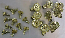 Lot of 21 Assorted Christmas Tree Tin Pinecone Shaped Clip On Candle Holders