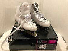 New listing Girls Dbx Figure Skate 1100 Series White Youth Size 1 - Fast Priority Shipping