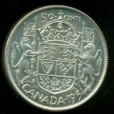 1954 Queen Elizabeth II, Silver Fifty Cent Piece, Mint BU!   F19