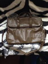 NEW ASOS FOLD OVER SATCHEL BAG HOLDALL KHAKI LEATHER LOOK TRENDY MAN BAG RRP £25