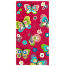 Think Rugs Hong Kong 5234 Hand Tufted Children's Rug Pink 70 X 140 Cm
