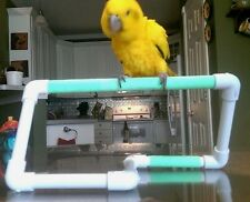 "NEW 1/2"" PVC **Simple and Easy Perch  Stand**  Birds Love Them"