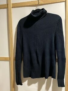 Liz Lange Maternity Turtle Neck Black Sweater Large
