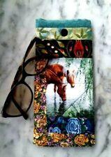 Ponies Sunglasses Case handmade soft padded glasses case snap close