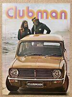 1971 British Leyland Mini Clubman original Australian sales brochure (4/71 - 2)