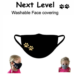 PAWs personalised Kids Face Cover Virus Protection Reusable Washable Breathable
