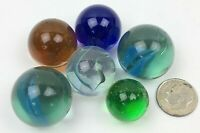 """#3 Lot of 20 Sports Collectible Glass 1/"""" Logo Marbles READ"""
