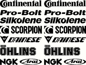 Belly Pan Motorbike Fairing Stickers  Set D  other sets available visit shop