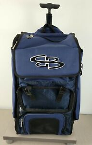 Boombah Baseball Softball Rolling Superpack 2.0 Navy Black Missing Front Flap