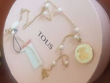 Tous precioso collar oro perlas reversible collier necklace gold  bonito regalo