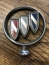 Vintage 80's OEM Buick Hood Ornament Emblem Tri Shield  Auto #4 SEE DESCRIPTION