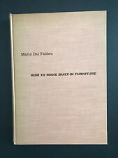 How To Make Built-In Furniture, by Mario Dal Fabbro -1955- Vtg, Hardcover Book