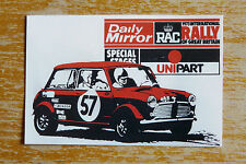 1973 RAC Rally of Great Britain Daily Mirror Mini Motorsport Sticker Decal