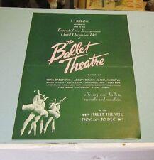 1941 Russian Ballet New York 44th Street Theatre Brochure Irina Baronova S Hurok