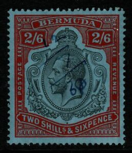 BERMUDA SG89jf 1931 2/6 DAMAGED LEAF AT BOTTOM RIGHT FISCALLY USED