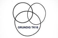SET BELTS GRUNDIG TK18 REEL TO REEL EXTRA STRONG NEW FACTORY FRESH TK 18