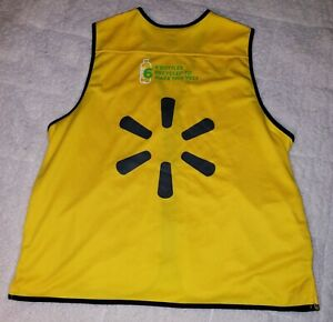 Yellow Proud Walmart Associate Vest - Large