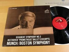 RCA Living Stereo LSC-2522 SCHUBERT Symphony No.2 MUNCH SD NM- & VG+/VG++