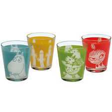 New Moomin Glass Tumbler cup 4 set Stainless Made in Japan Snufkin Little my